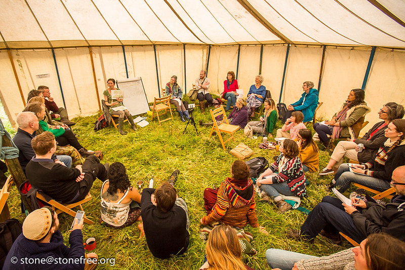 A workshop at a permaculture convergence
