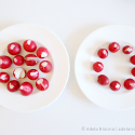 Radishes on two plates