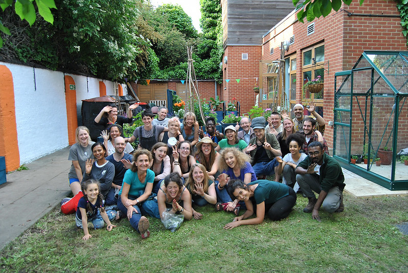 Permablitz London at a community project