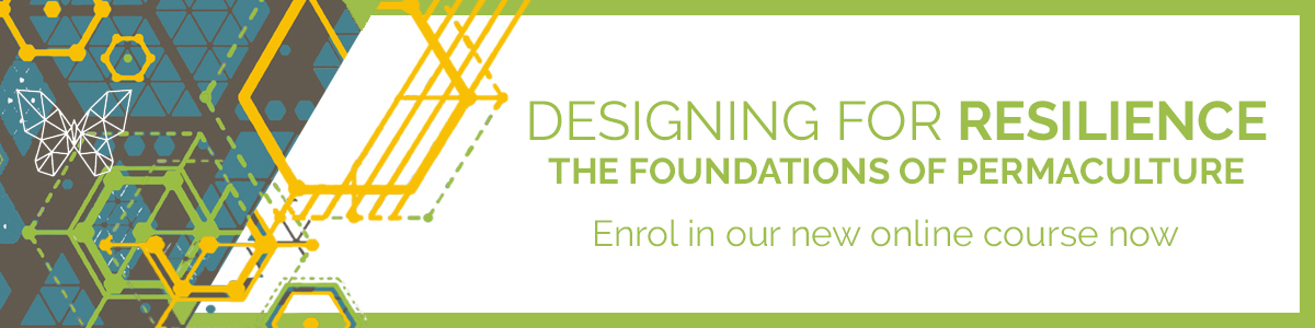 Online course: Design for Resilience permaculture course banner