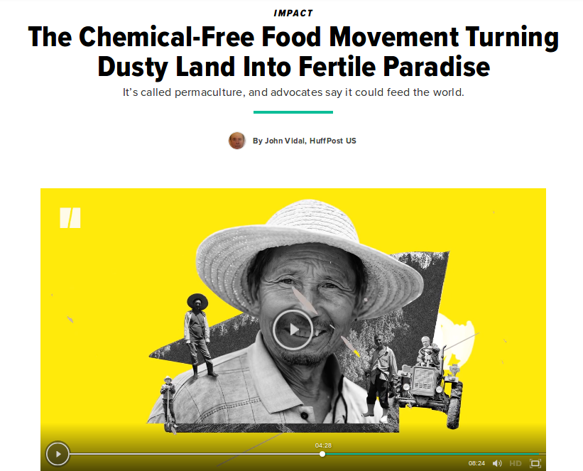 Huff Post: The Chemical-Free Food Movement Turning Dusty Land Into Fertile Paradise