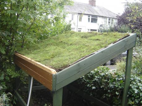 Permaculture Association Design Bike Shed With Living Roof