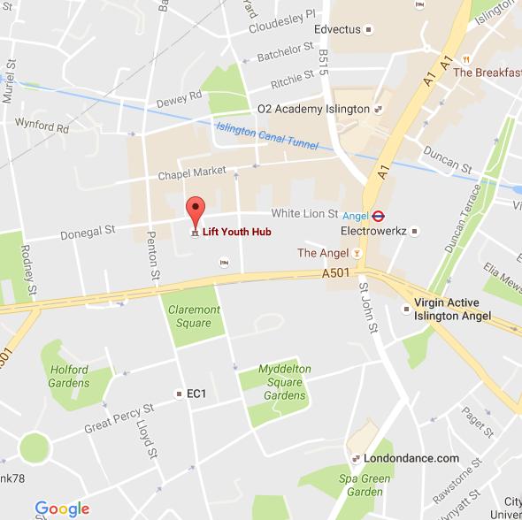 Lift Islington map - N1 9PW