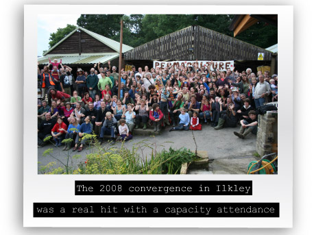 Participants at convergence 2008 in Ilkley West Yorkshire