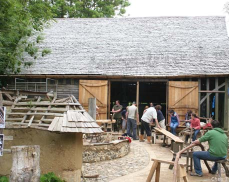 Working with the wood at Orchard Barn
