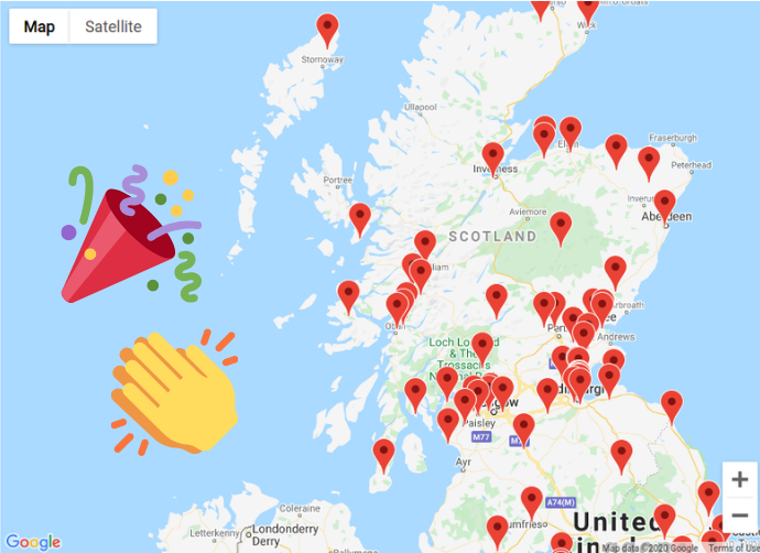 Scotland member map