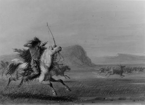 """Hunting Elk"" by Alfred Jacob Miller"