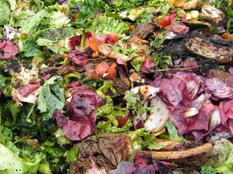 Composting kitchen scraps