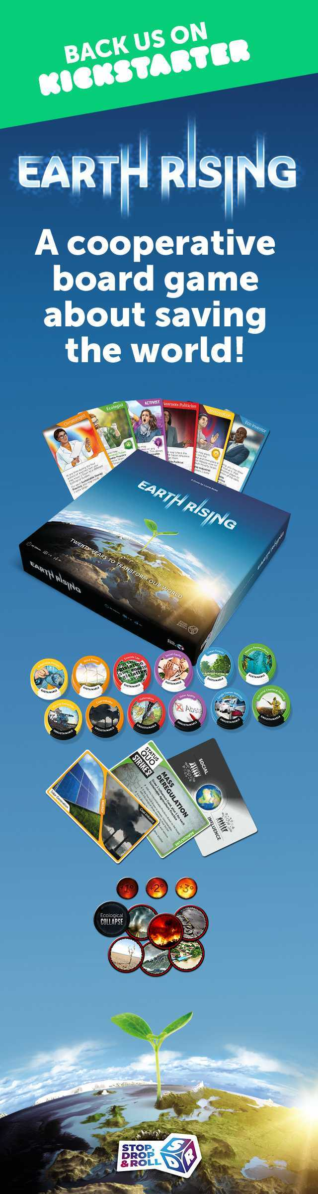 Earth Rising board game banner